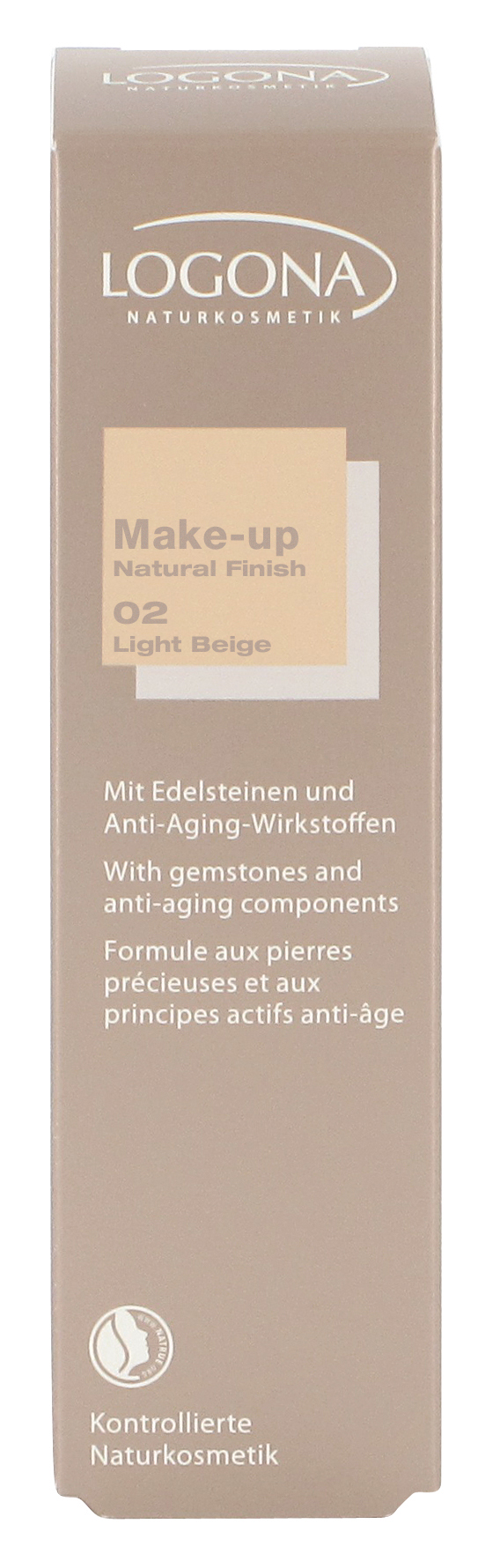 LOGONA Make-up Natural Finish No.02 světle béžová