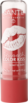 SANTE Balzám na rty Smooth Color Kiss No.02 Soft Red / Jemně Červená